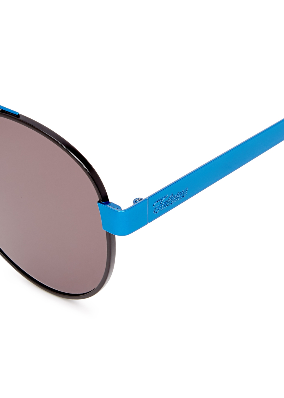 Forer blue round-frame sunglasses - FAKE ME