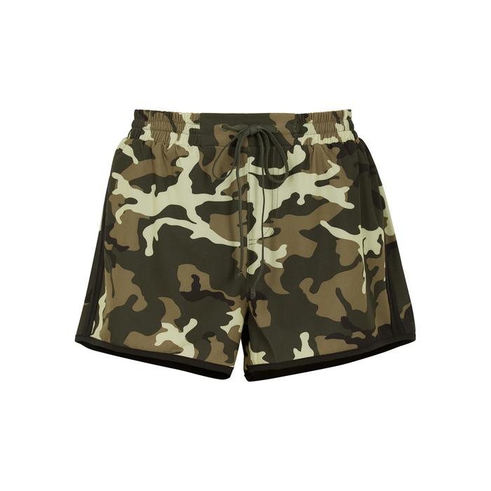 The Upside Shorts CAMOUFLAGE SHELL SHORTS