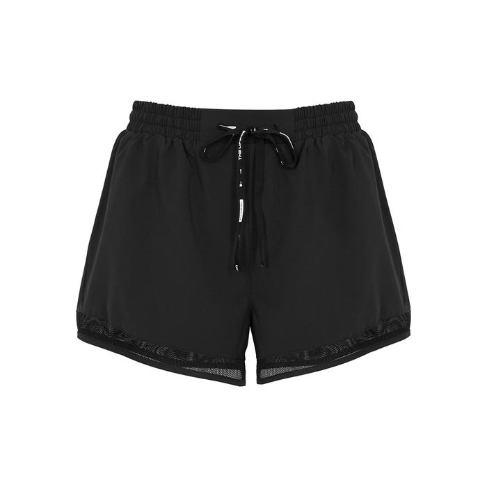 The Upside Shorts BLACK MESH AND SHELL SHORTS