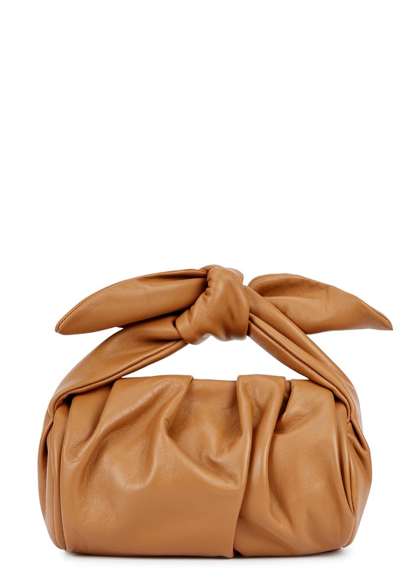 4bf2cc6e3d Nane brown leather top handle bag ...