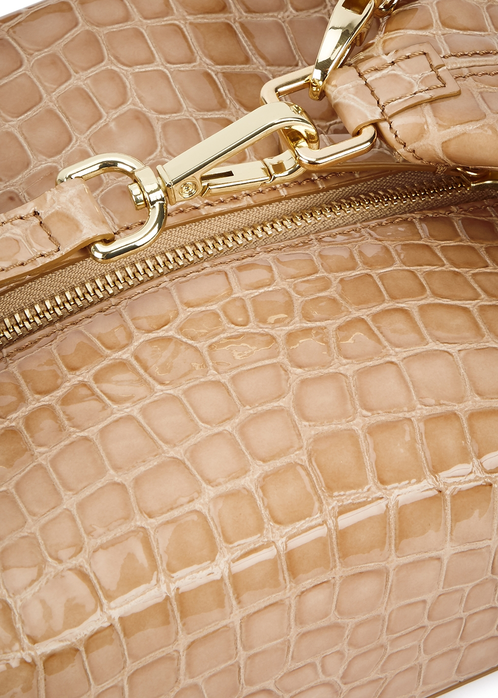 Olivia crocodile-effect leather box bag - Rejina Pyo