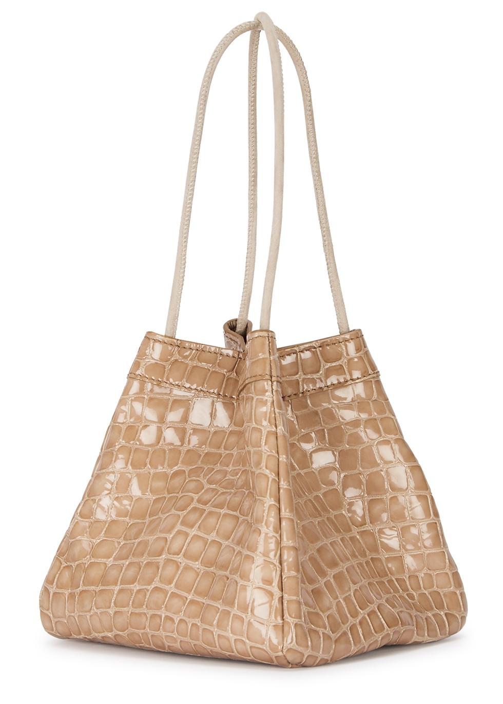 Rita taupe leather mini top-handle bag - Rejina Pyo