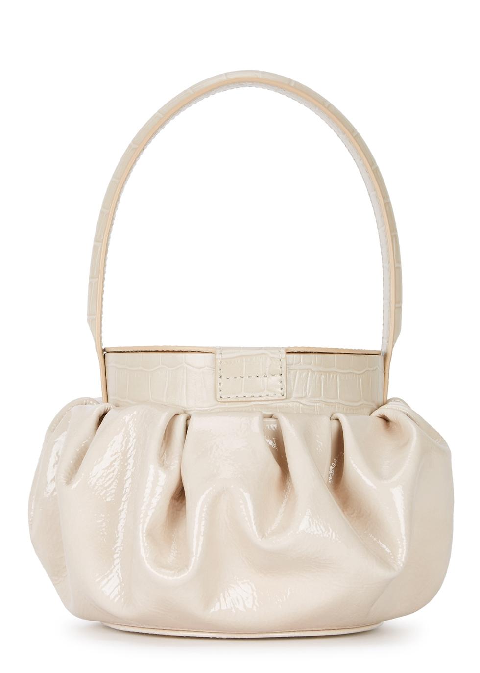 Agnes patent ivory leather top-handle bag - Rejina Pyo