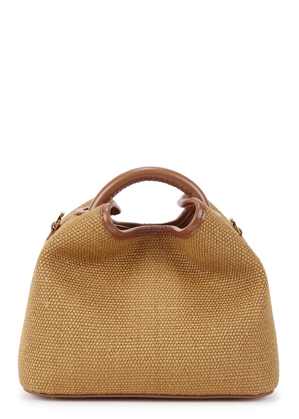Baozi raffia top handle bag - ELLEME