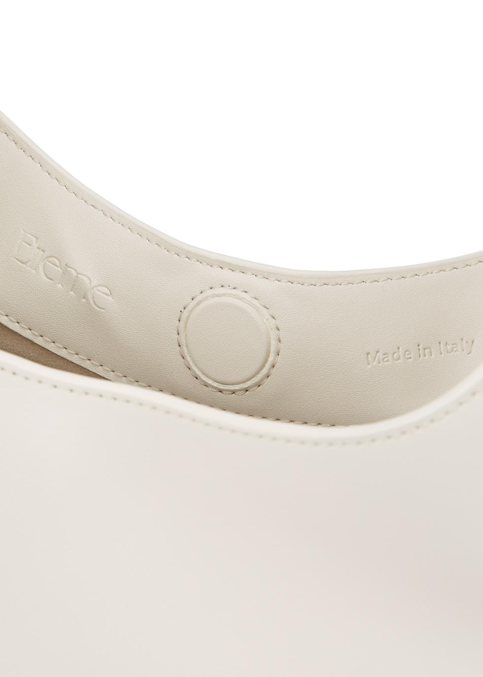 Baozi white leather top handle bag - ELLEME