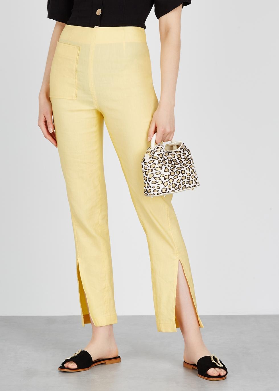 Madeleine leopard-print calf hair top handle bag - ELLEME
