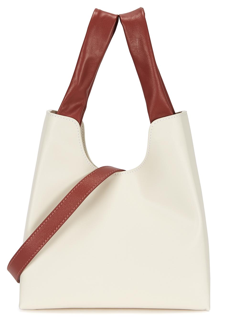 White leather shopper tote - ELLEME