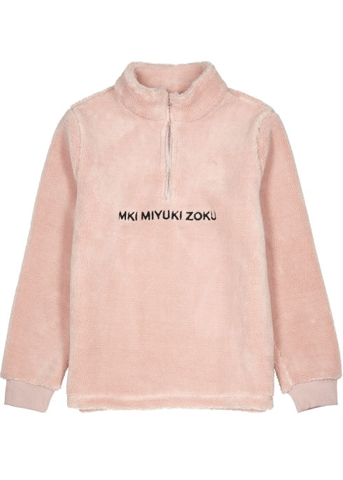 MKI MIYUKI ZOKU Pink faux-shearling jumper - Harvey Nichols 71d3513bf2