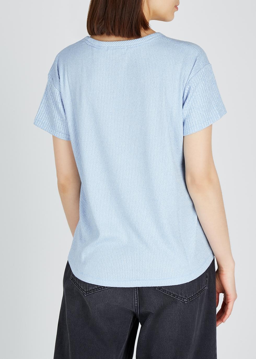 Clara Torqued blue jersey T-shirt - rag & bone /JEAN