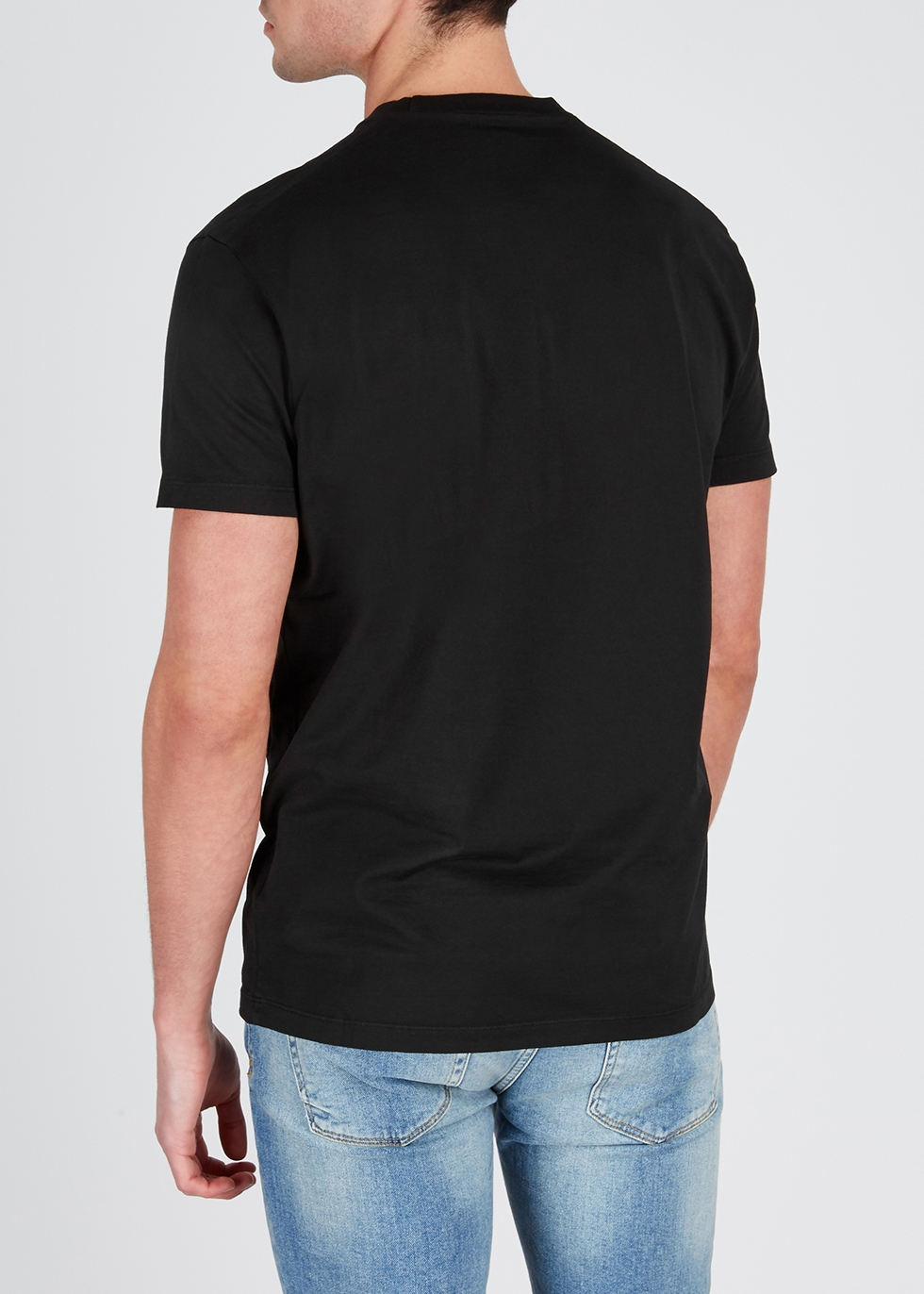 Black printed cotton T-shirt - Dsquared2