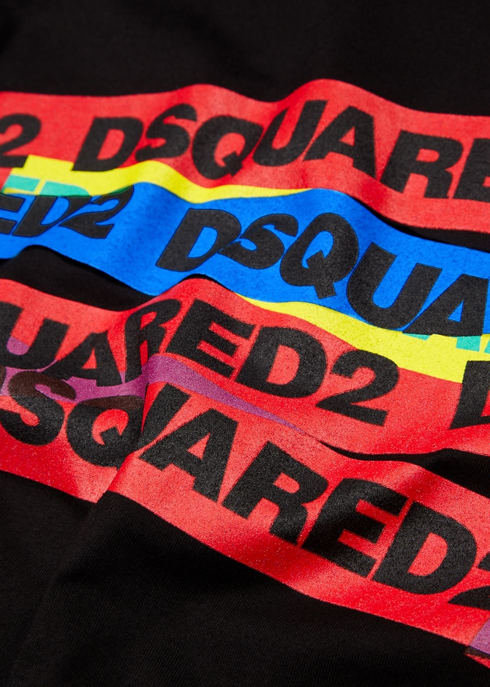 Black cotton T-shirt - Dsquared2