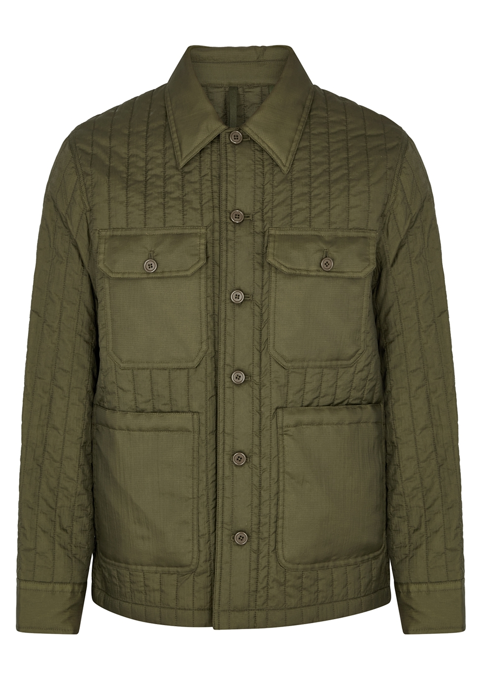 Army green quilted shell jacket - Helmut Lang