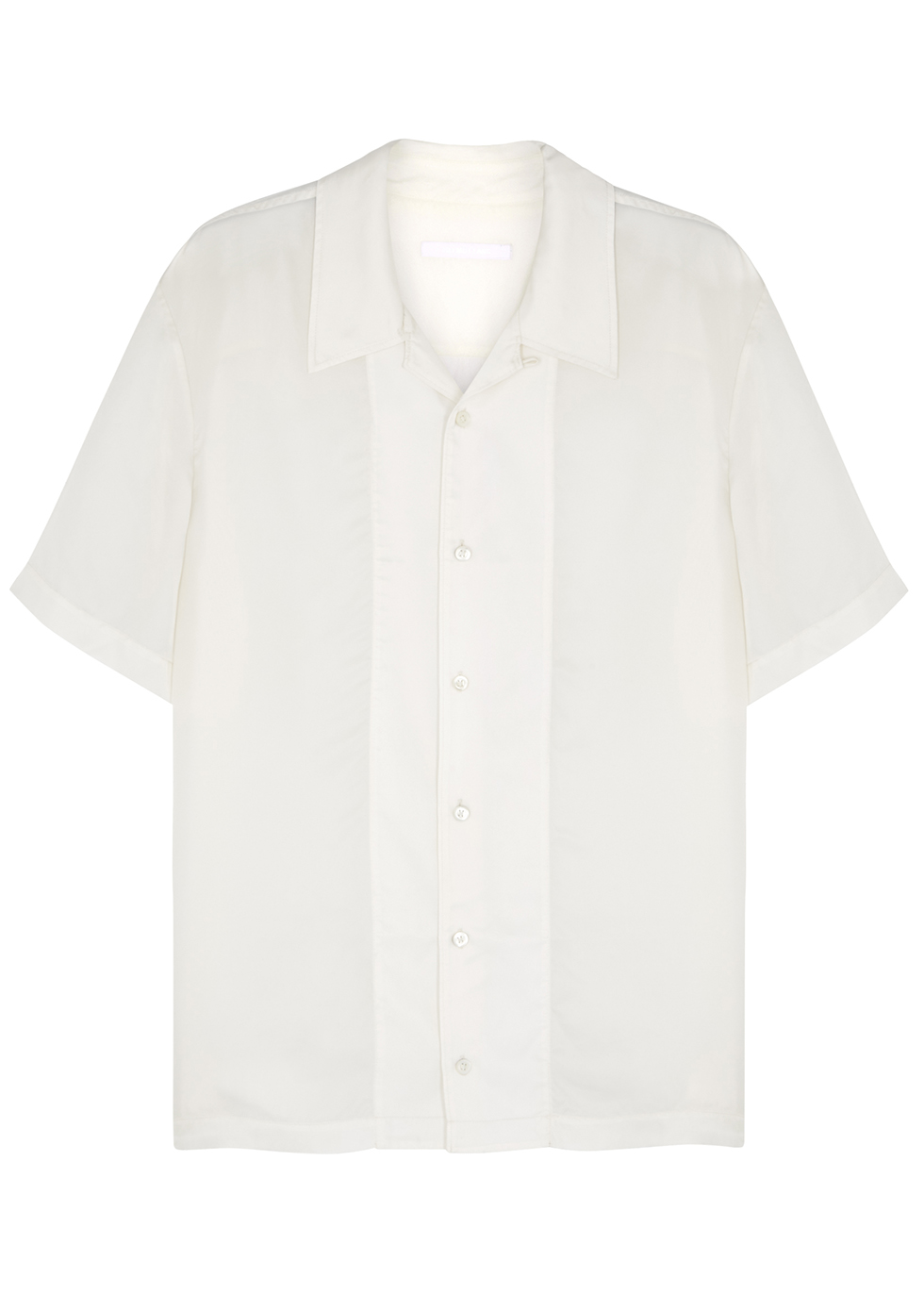 White relaxed cupro shirt - Helmut Lang