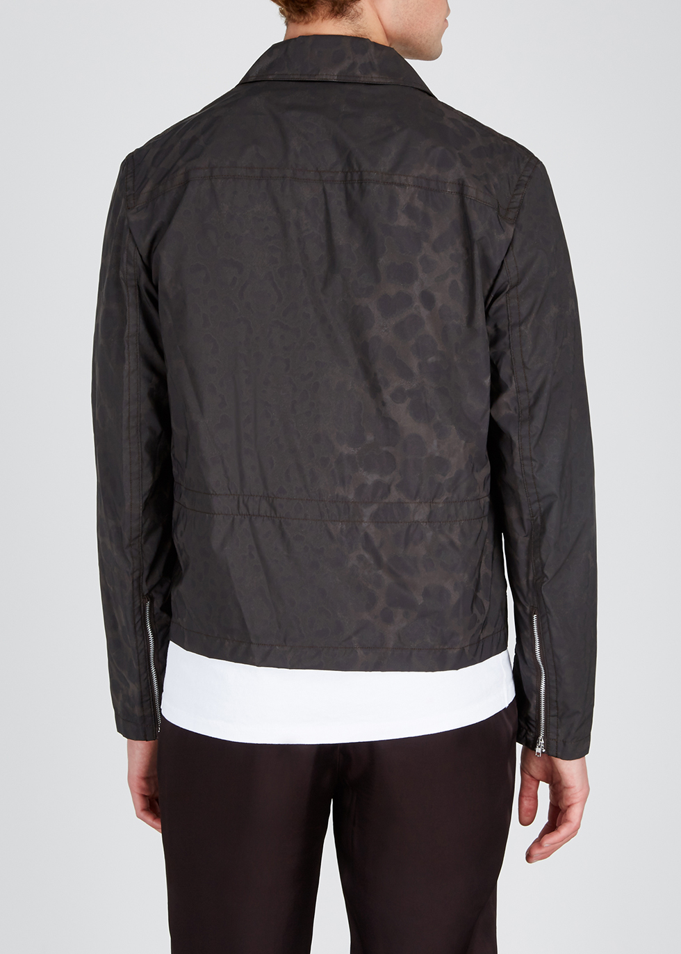 Faded leopard-print shell jacket - Helmut Lang