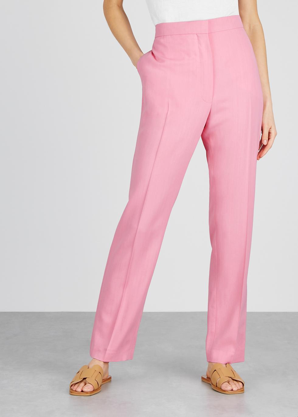 Pink straight-leg twill trousers - Loewe
