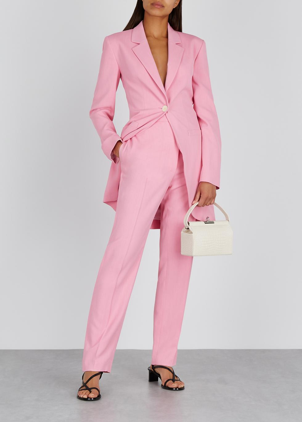 Pink longline twill blazer - Loewe
