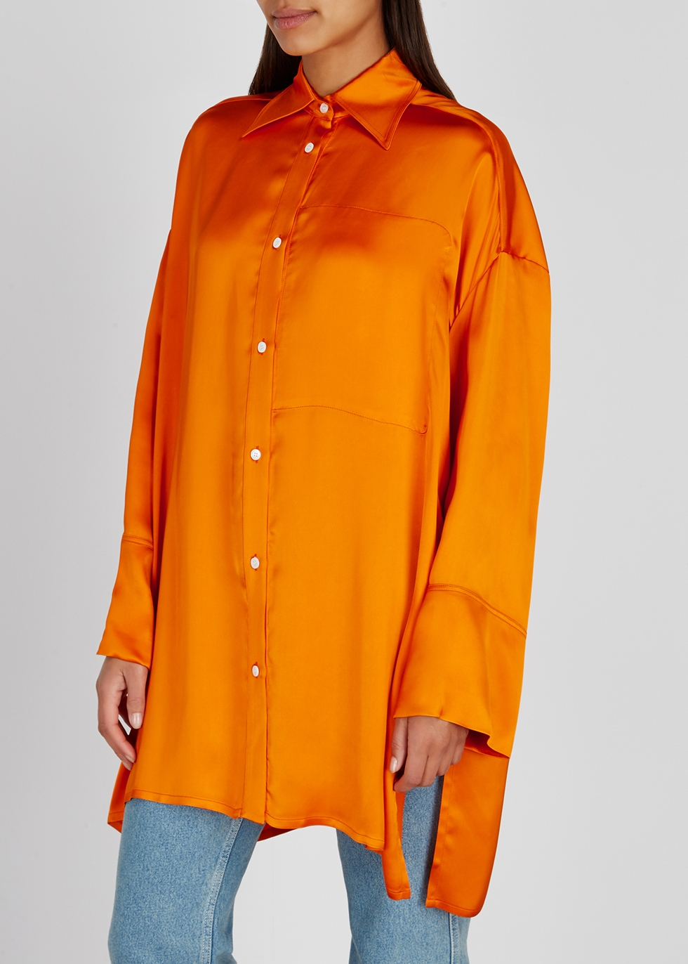 Orange oversized satin shirt - Loewe