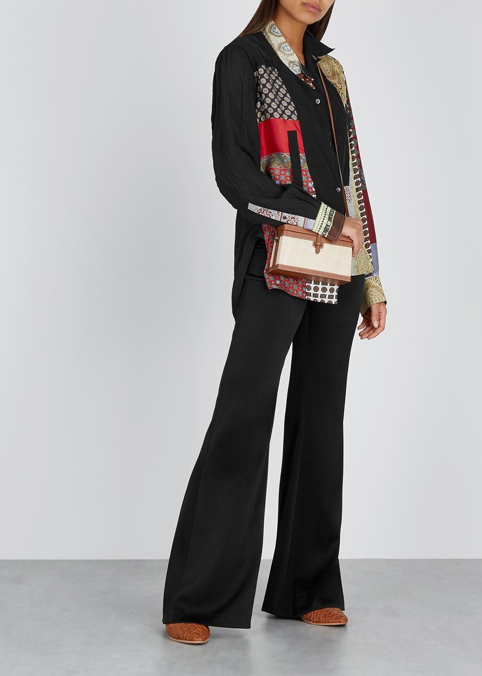 Contrast-print silk twill shirt - Loewe