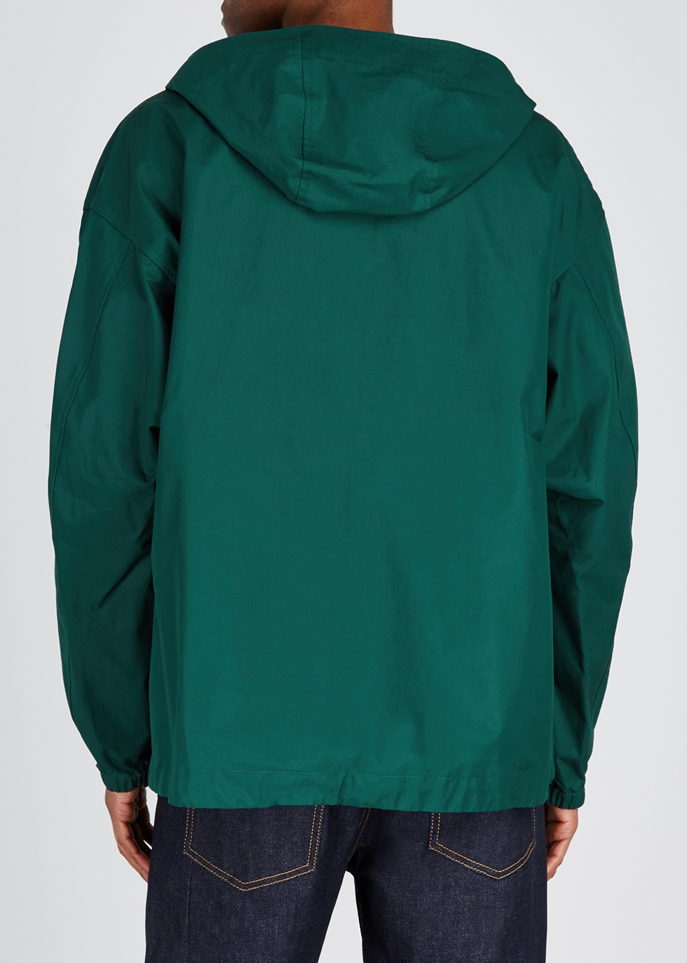 Green hooded cotton jacket - Gucci