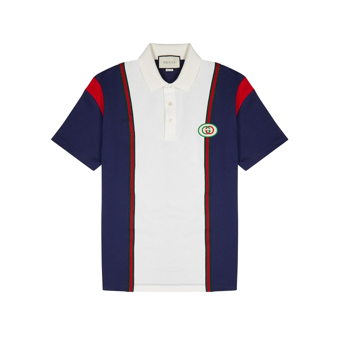 Gucci Panelled Cotton Polo Shirt