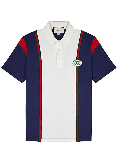61a0c6782 Gucci Panelled cotton polo shirt - Harvey Nichols