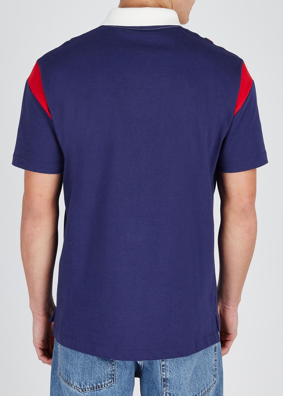 Panelled cotton polo shirt - Gucci