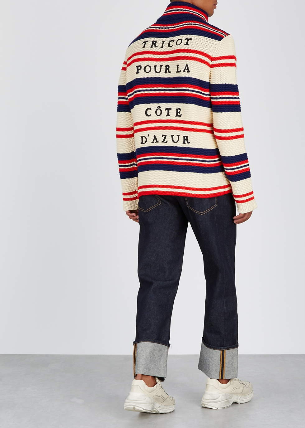 Striped cotton-blend jumper - Gucci