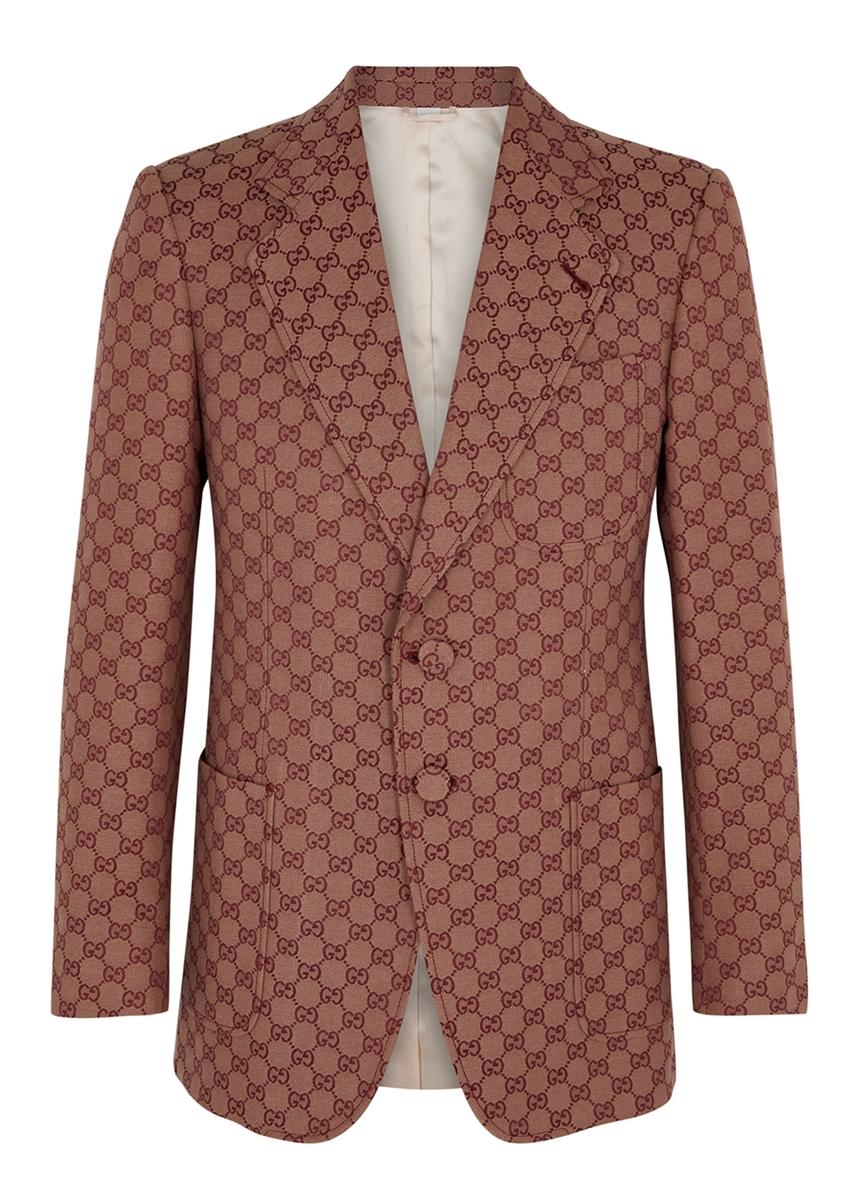 0e6d15a70 GG jacquard cotton-blend blazer ...