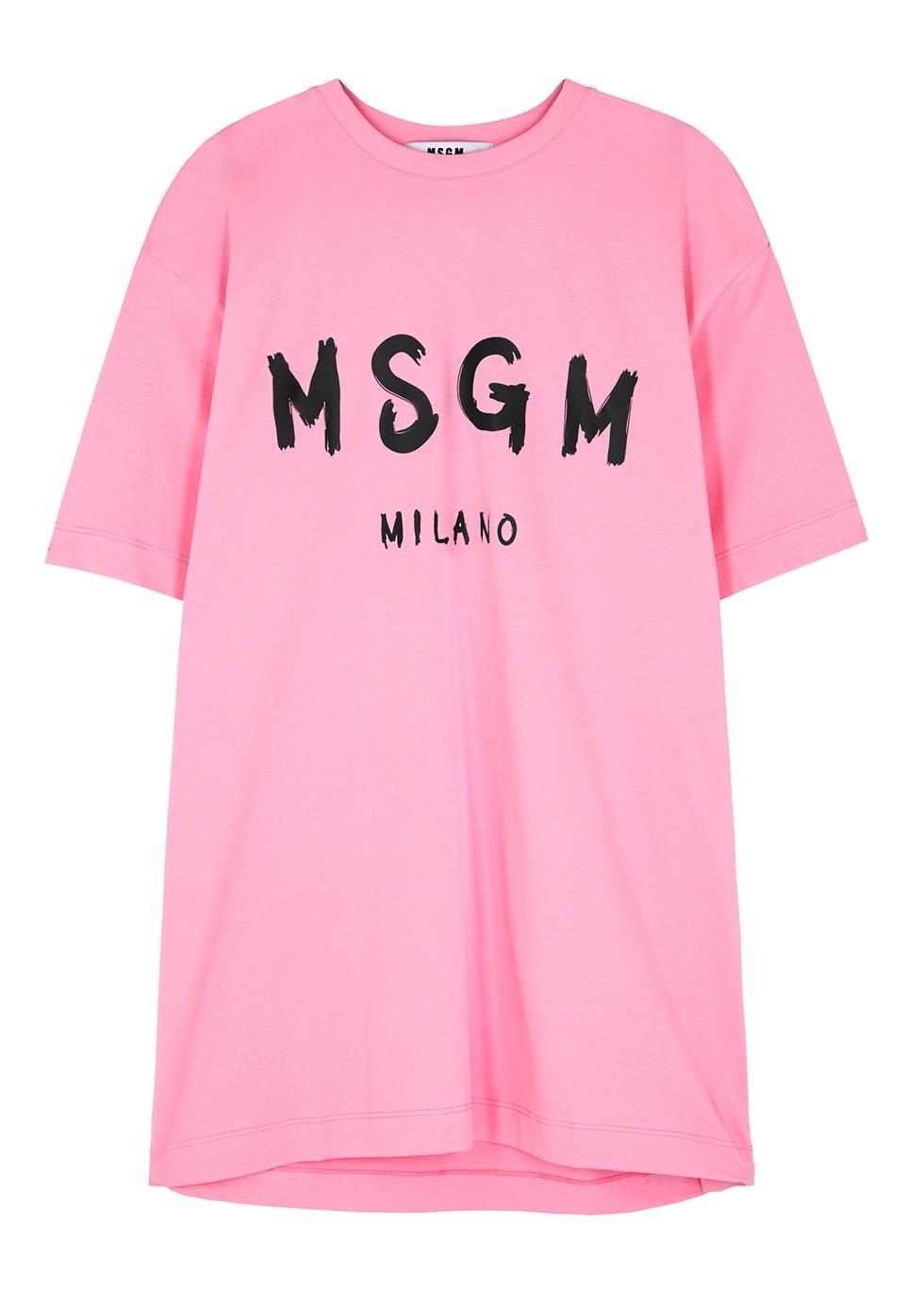 Pink cotton T-shirt dress
