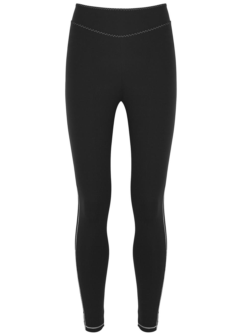Corona black stretch-jersey leggings - Sàpopa