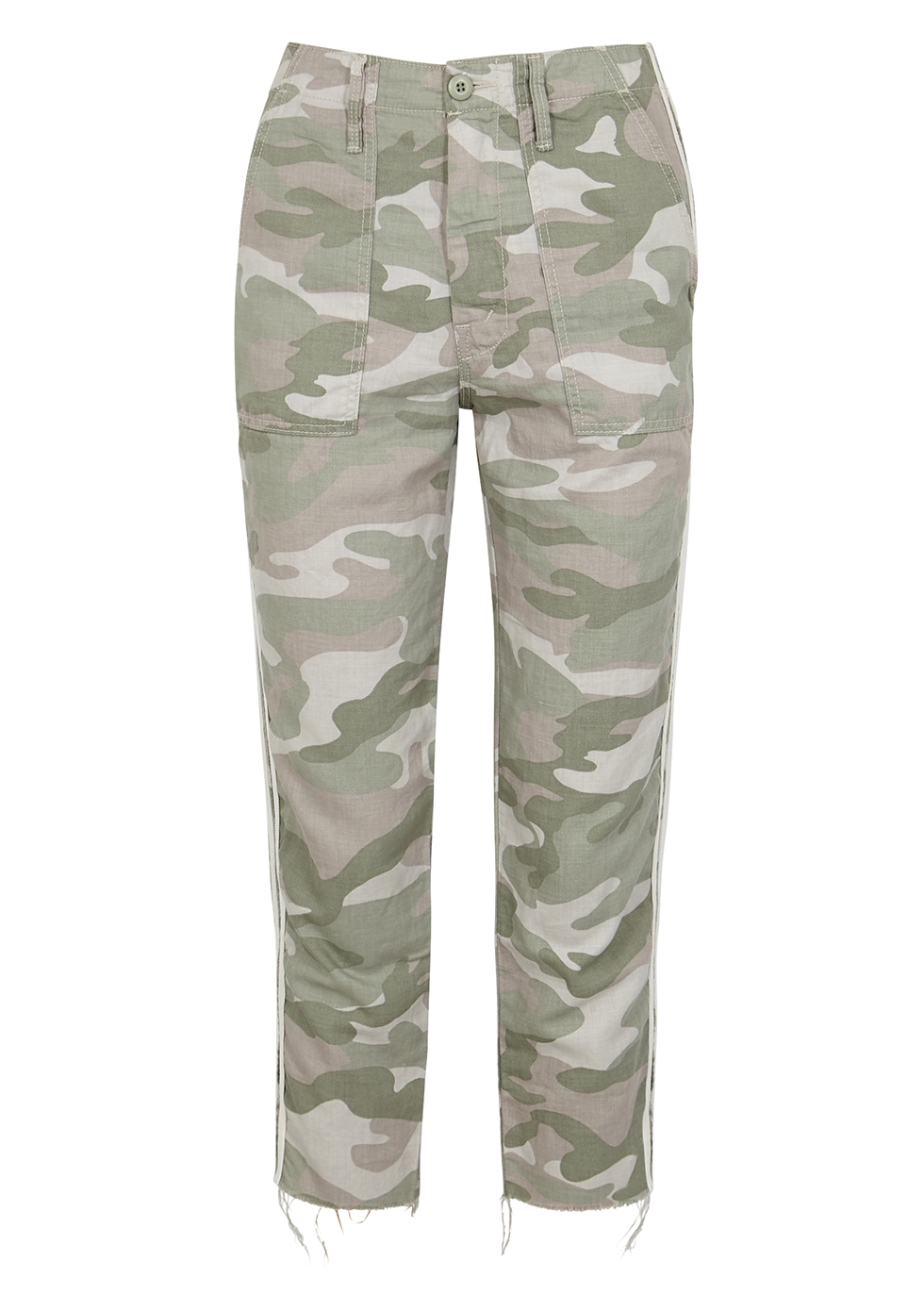 The Shaker printed cotton-blend trousers - Mother