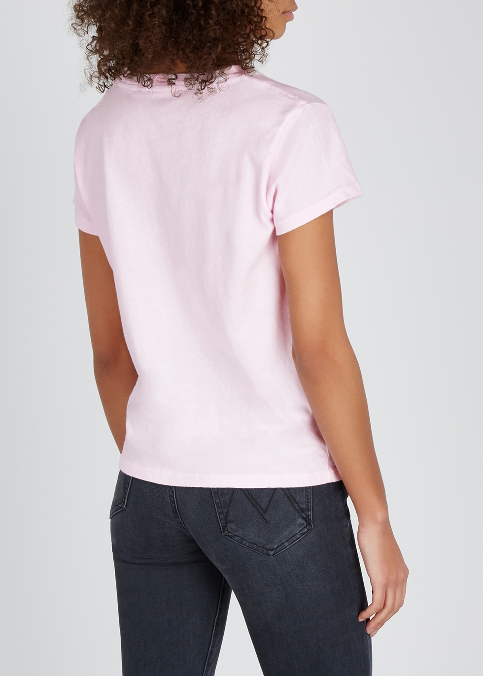 Pink printed cotton T-shirt - Mother