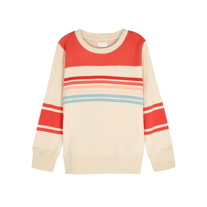 Mother T-shirts KOOZIE STRIPED COTTON SWEATSHIRT