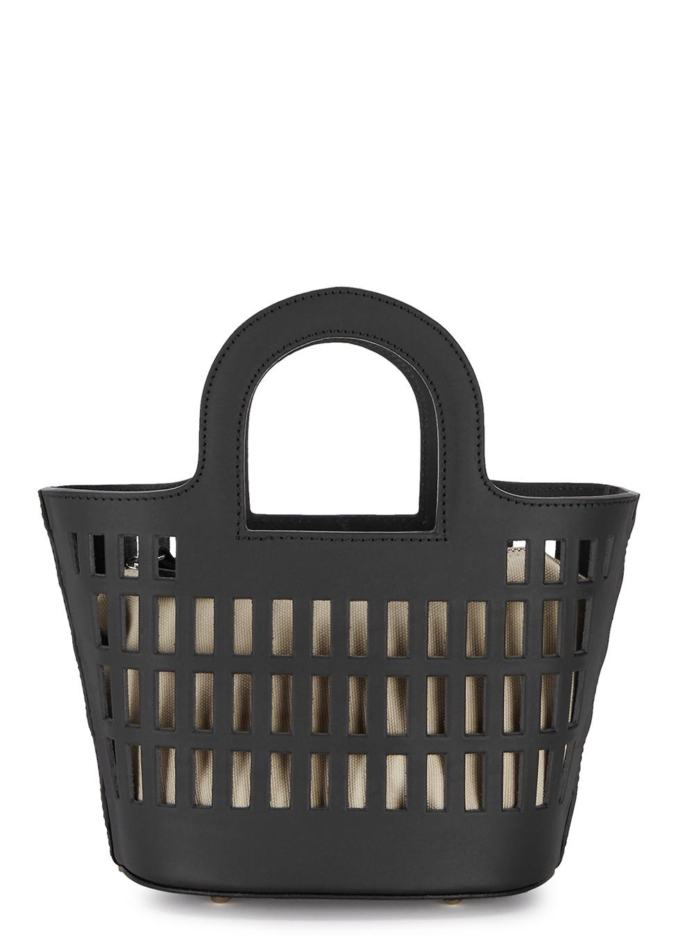 Colmado black leather top handle bag - Hereu