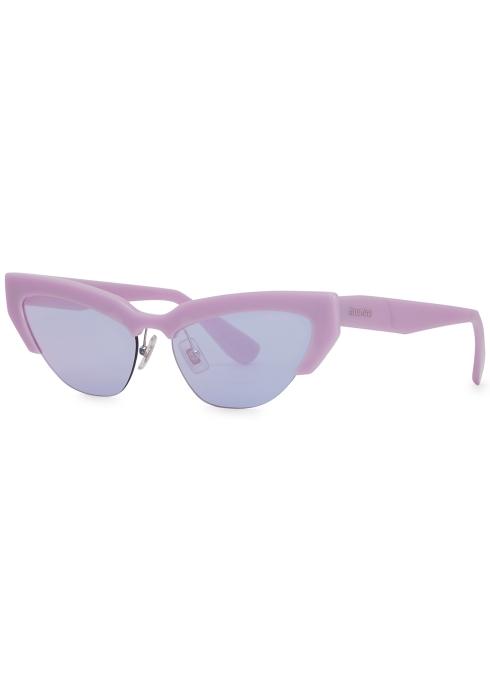 d219d63c6d3ee Miu Miu Lilac mirrored cat-eye sunglasses - Harvey Nichols