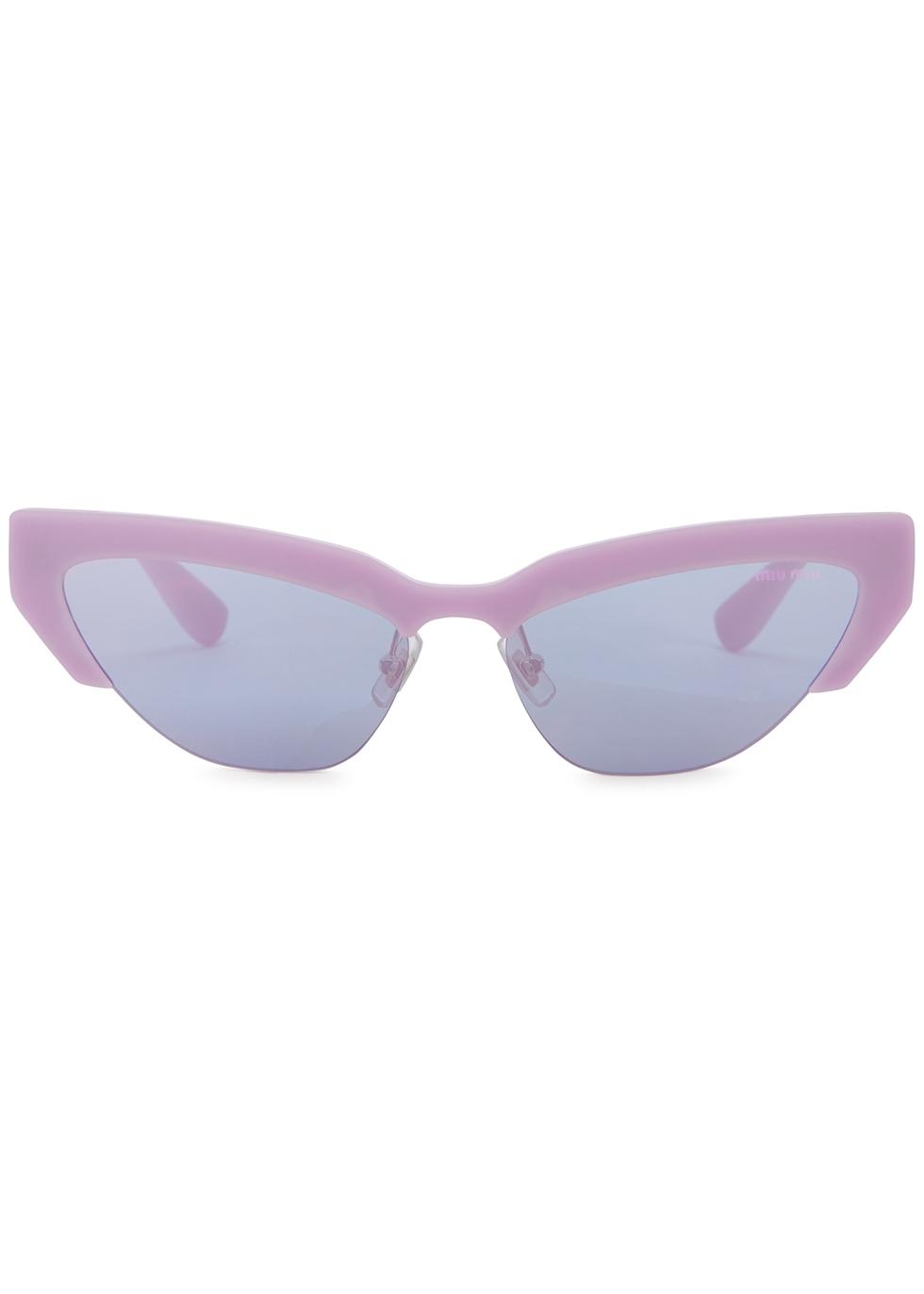 Lilac mirrored cat-eye sunglasses - Miu Miu