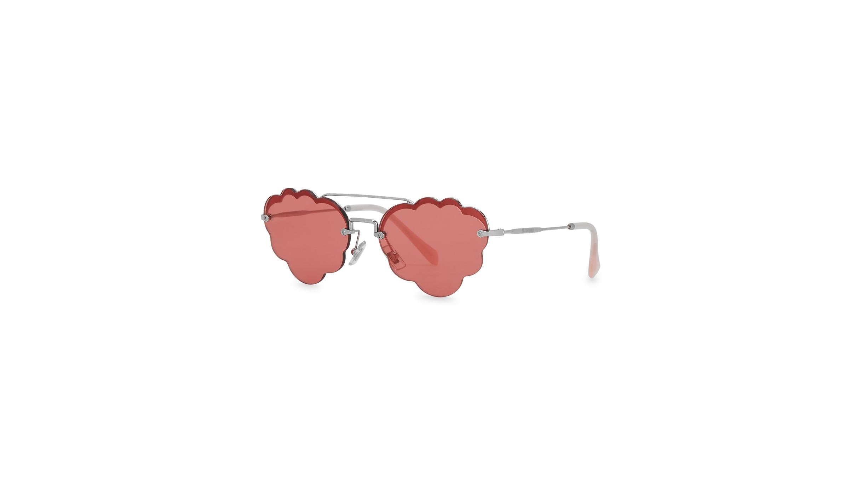 183da949b Miu Miu Pink scalloped aviator-style sunglasses - Harvey Nichols