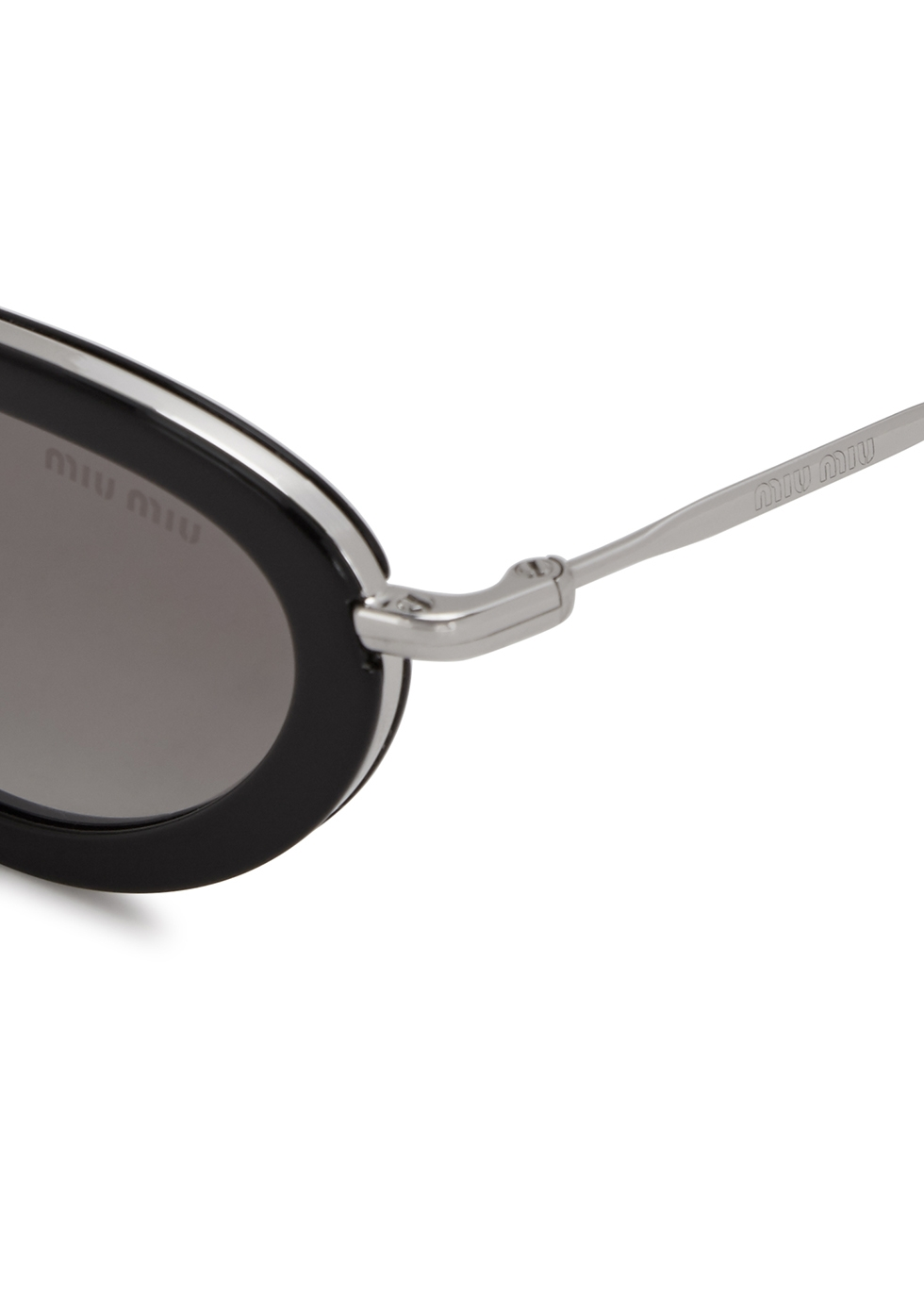 Mirrored oval-frame sunglasses - Miu Miu