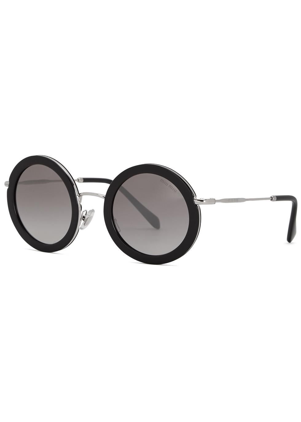 Mirrored round-frame sunglasses - Miu Miu