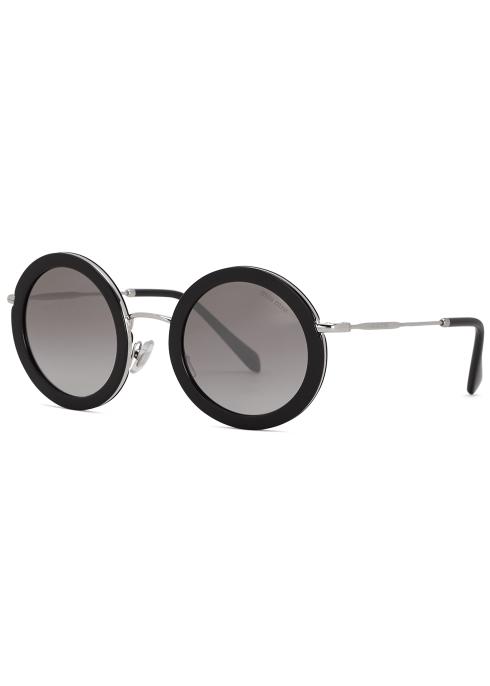 5709c3ccb14 Miu Miu Mirrored round-frame sunglasses - Harvey Nichols