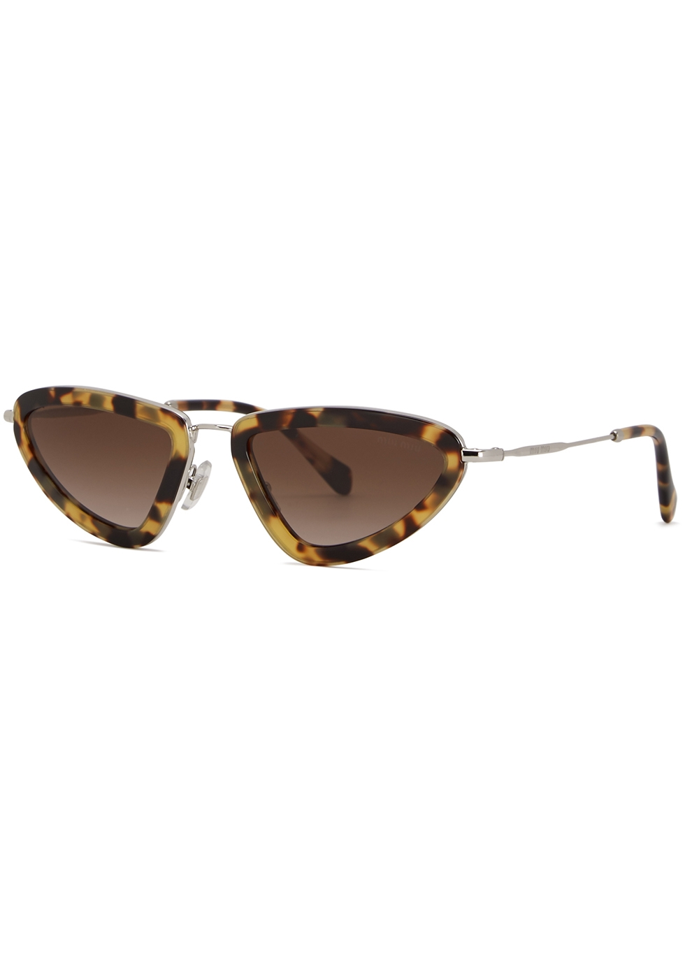 Tortoiseshell cat-eye sunglasses - Miu Miu