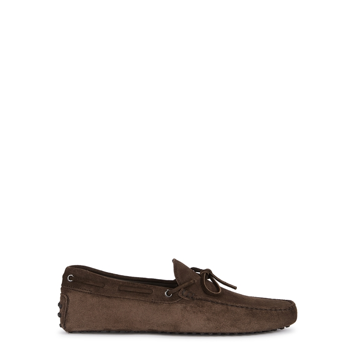 Tod's Gommini Dark Brown Suede Driving Shoes