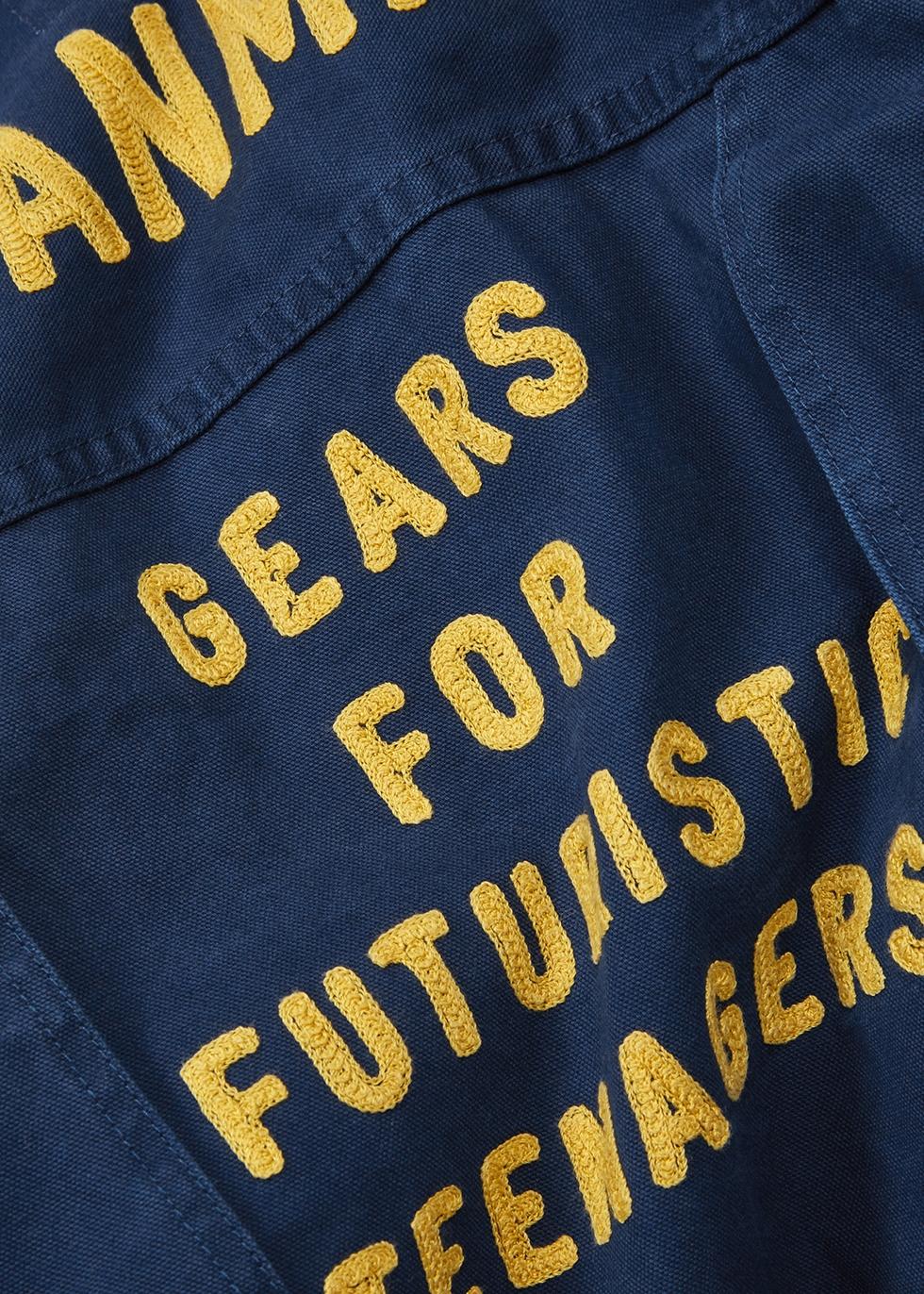 Blue embroidered denim jacket - Human Made