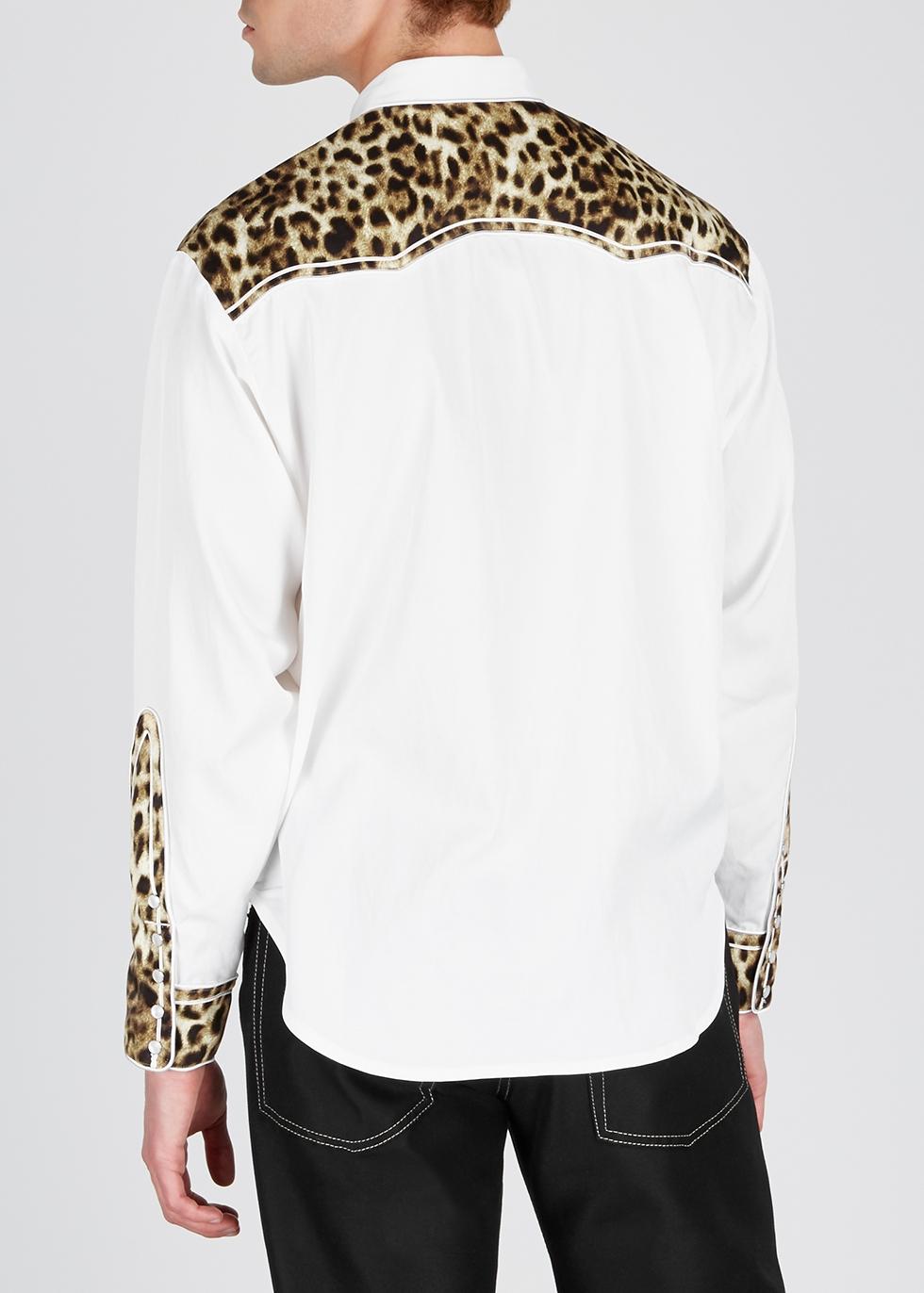 White leopard-print satin-twill shirt - Human Made