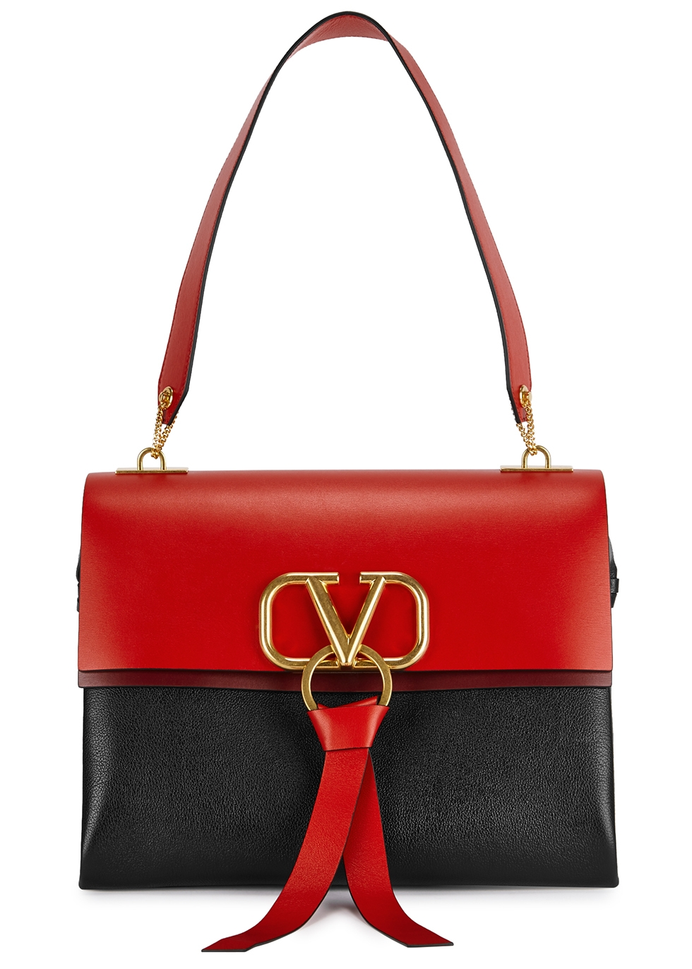 VRing medium leather top handle bag - Valentino Garavani