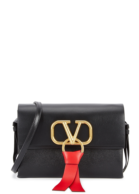 VRing black leather cross-body bag ... 5520f31690a23