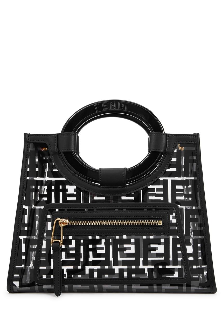 6de901c8731 Runaway black PVC top handle bag ...