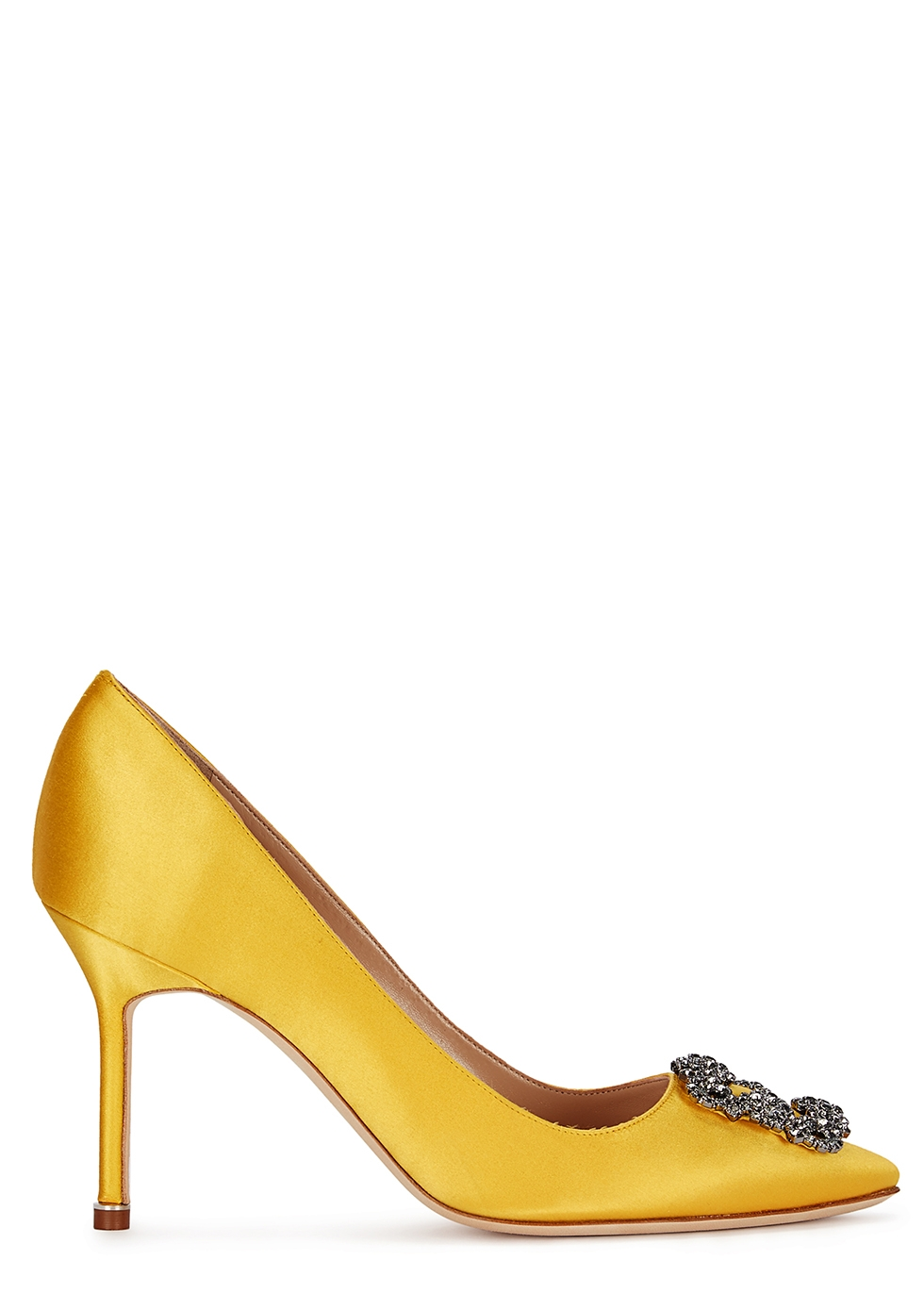 Hangisi 90 yellow silk satin pumps - Manolo Blahnik