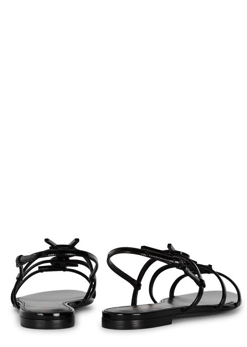 1279bfac5 Saint Laurent Cassandra black patent leather sandals - Harvey Nichols