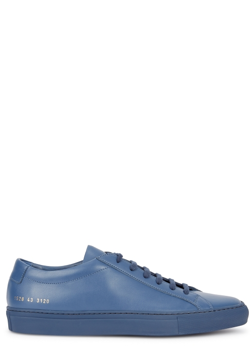 buy popular fad28 f1808 Original Achilles navy leather trainers - Common Projects
